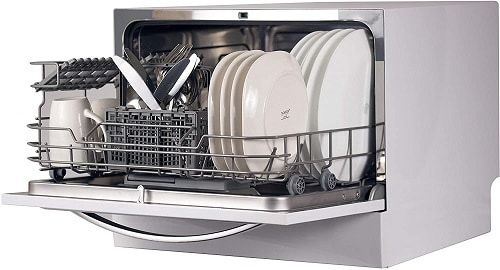 BLACK+DECKER BCD6W Compact Countertop Dishwasher