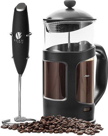 Bean Envy French Press Coffee Maker With Stainless Steel Stand