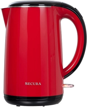 Secura 1.8L Stainless Steel Double Wall Electric Water Kettle